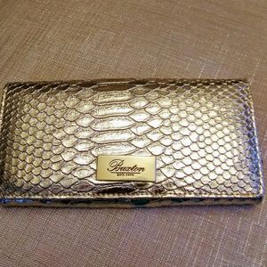 Buxton Organizer Wallet clutch Gold